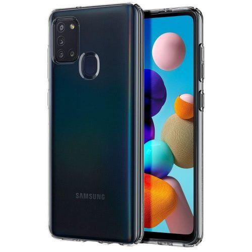 Spigen Liquid Crystal silikonový kryt na Samsung Galaxy A21s, průsvitný