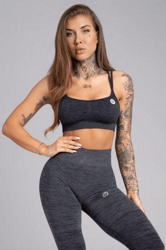 Gym Glamour Podprsenka Seamless Grey Melange XS