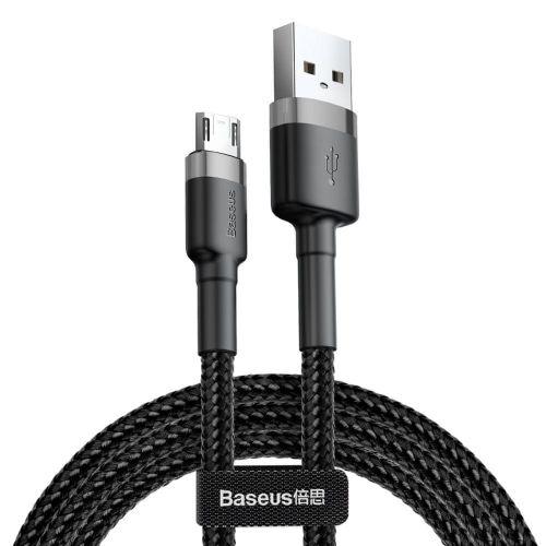 BASEUS Cafule kabel USB / Micro USB QC 3.0 1.5A 2m, černý/šedý