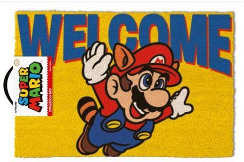 CurePink Rohožka Super Mario: Welcome (60 x 40 cm) multicolor