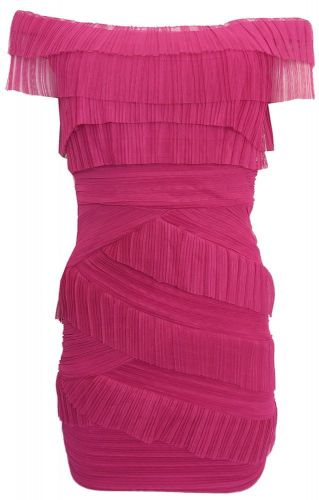 Morgan Barevné tylové šaty Morgan fialová L