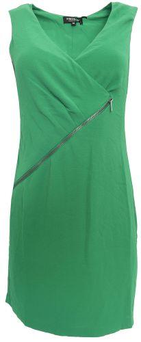 Morgan Hráškové šaty se šikmým zipem Morgan Zelená 36