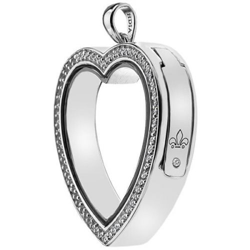Hot Diamonds Přívěsek na elementy Anais Srdce s krystaly a diamantem EX011 stříbro 925/1000