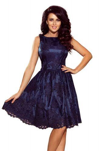Numoco Dámské šaty 173-3 + Ponožky Gatta Calzino Strech, tmavě modrá, XS cena od 0 Kč