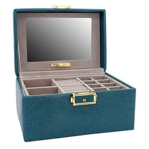 Friedrich Lederwaren Moderní tyrkysová kožená šperkovnice Milano 95911-70 cena od 2350 Kč