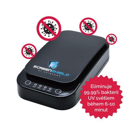 Screenshield UV sterilizátor pro mobilní telefony a drobné předměty, černá