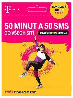 T-MOBILE CZECH REPUBLIC A.S. T-Mobile SIM Twist 50 MINUT A 50 SMS