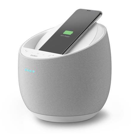 Belkin by DEVIALET SOUNDFORM™ ELITE Hi-Fi Inteligentní reproduktor s Alexa a AirPlay2 + bezdrátová nabíječka, bílá