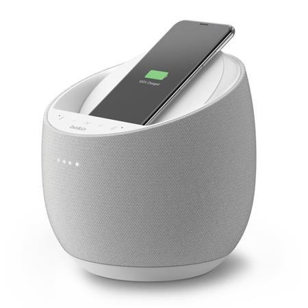 Belkin by DEVIALET SOUNDFORM™ ELITE Hi-Fi Inteligentní reproduktor s Google Assistant + bezdrátová nabíječka, bílá