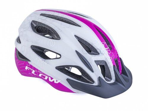 AUTHOR Přilba Flow Inmold X9 192 bílá/růžová-neonová 192 bílá/růžová-neonová 58-61cm
