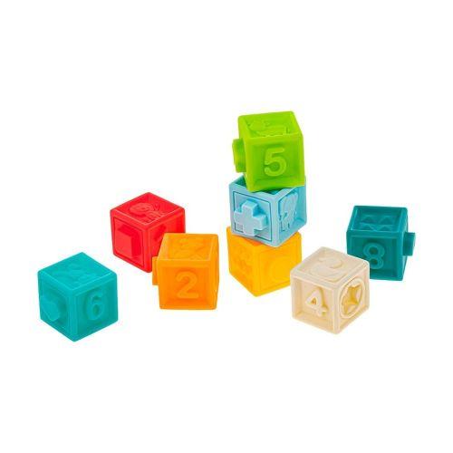 AKUKU Sada senzorických hraček 8ks Akuku kostky