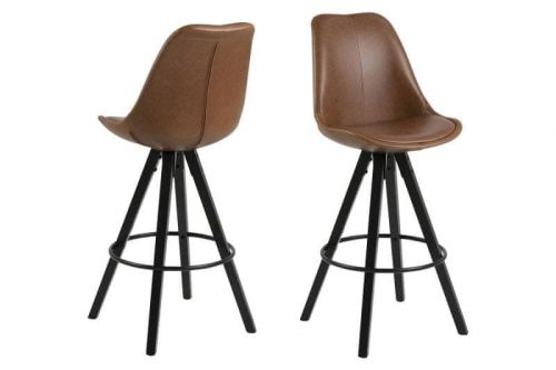 shumee Barová židle z ekokože Dima Brandy