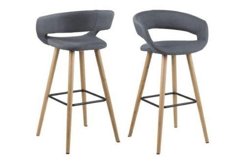 shumee Grace tmavě šedá barová židle