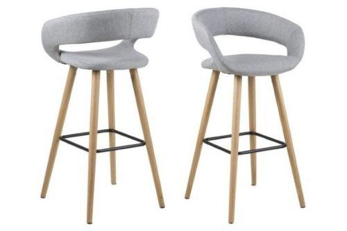 shumee Grace světle šedá barová židle