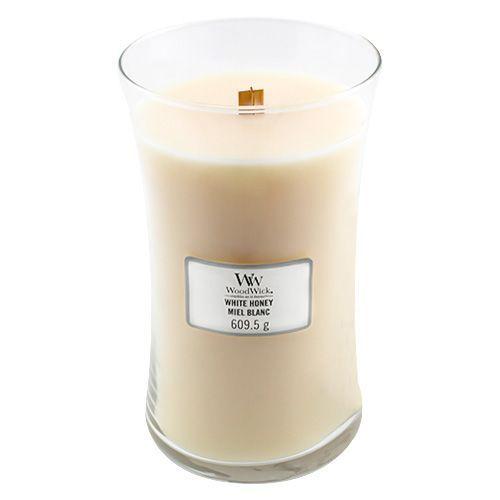 Woodwick Svíčka oválná váza , Bílý med, 609.5 g