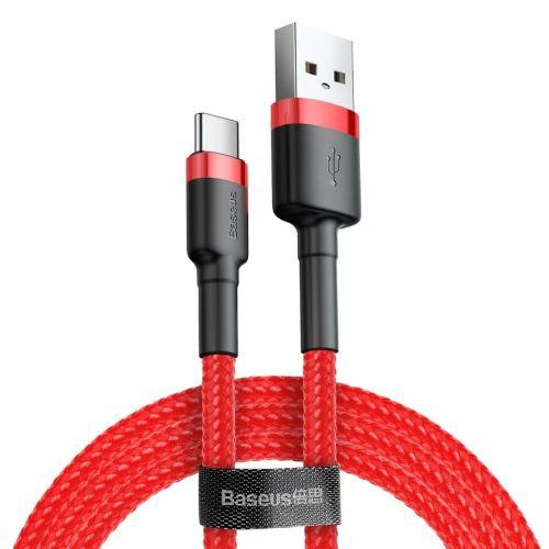 BASEUS Cafule kabel USB / USB Type-C QC 3.0 2m, červený