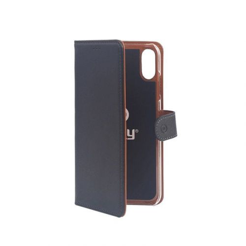 Celly flipové koženkové pouzdro pro iPhone XS Max Wally černá