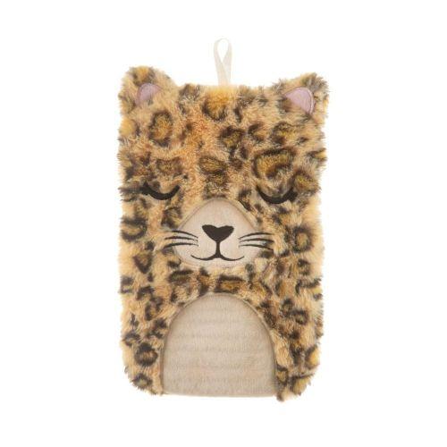 Sass & Belle Hnědá plyšová nahřívací láhev s motivem leoparda Leopard Love