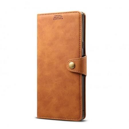 Lenuo Leather pro Xiaomi Redmi Note 8 Pro, hnědá