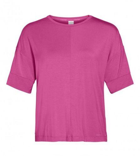 Calvin Klein Dámské spací tričko - 000QS6410E BM6 - Calvin Klein růžová S