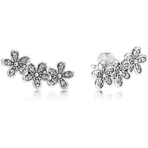 Pandora Romantické stříbrné náušnice Sedmikrásky 290744CZ