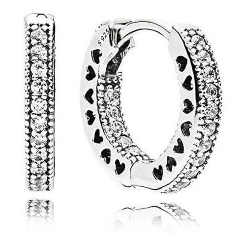 Pandora Kruhové náušnice s krystaly 296317CZ
