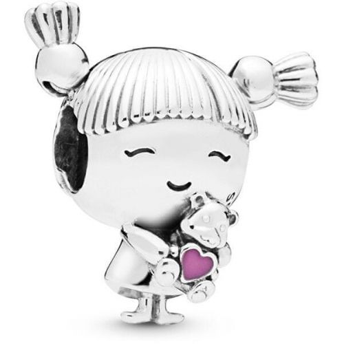 Pandora Stříbrný korálek Holčička s culíky 798016EN160 stříbro 925/1000