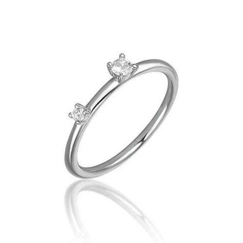 JVD Stříbrný prsten se zirkony SVLR0210XH2BI (Obvod 56 mm) stříbro 925/1000