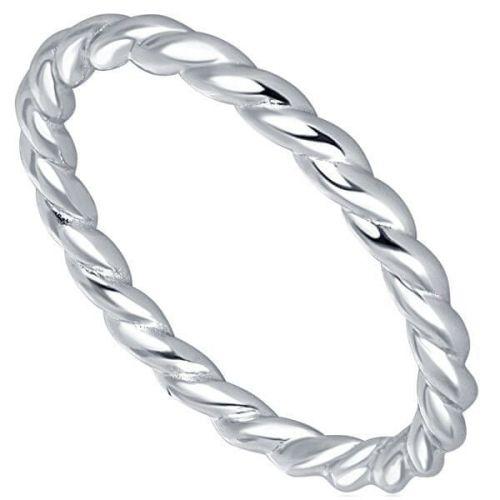 JVD Stříbrný minimalistický kroucený prsten SVLR0269XH200 (Obvod 52 mm) stříbro 925/1000