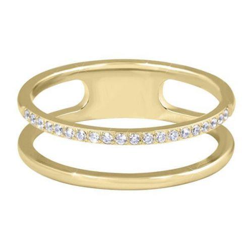 Troli Dvojitý minimalistický prsten z oceli Gold (Obvod 50 mm)