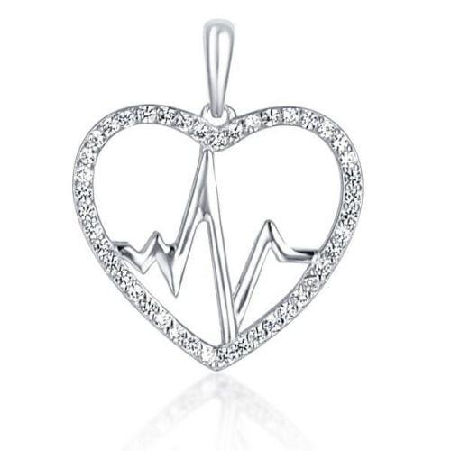 JVD Stříbrný přívěsek Srdce SVLP0664XH2BI00 stříbro 925/1000