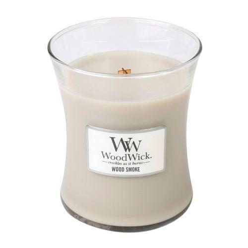 Woodwick Svíčka oválná váza , Kouř z cedrového dřeva, 275 g