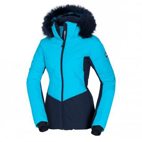 Northfinder dámská bunda lyžařská zateplená s kožíšekem NORTHENAS