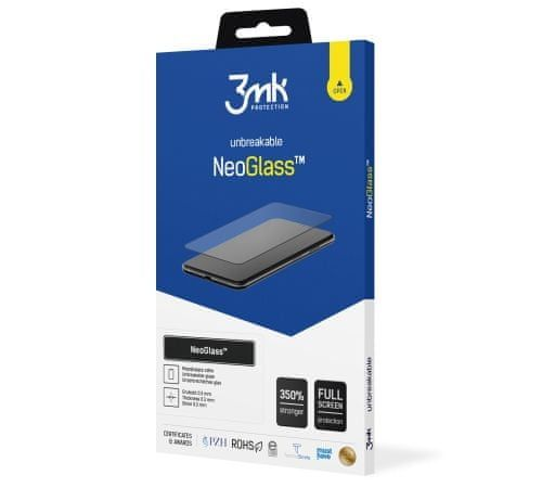 3MK Hybridní sklo NeoGlass pro Apple iPhone 12 Pro Max, černá