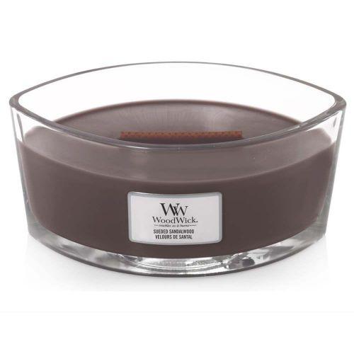 Woodwick vonná svíčka Suede & Sandalwood (Semišové santálové dřevo) 453 g
