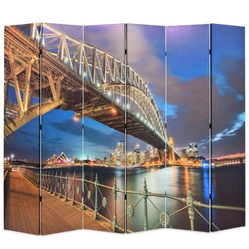 shumee Skládací paraván 228 x 170 cm Přístavní most v Sydney