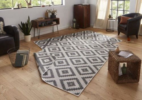 Bougari AKCE: 80x150 cm Kusový koberec Twin-Wendeteppiche 103132 grau creme 80x150