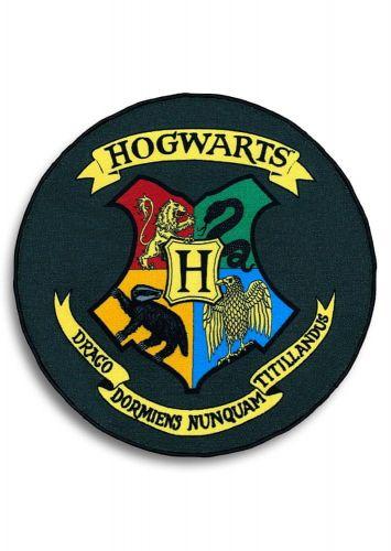 CurePink Kobereček Harry Potter: Bradavice - Hogwarts (100 x 100 cm)