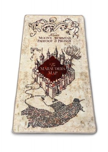 CurePink Kobereček Harry Potter: Marauder's Map (76 x 133 cm)