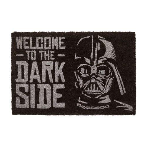 CurePink Rohožka Star Wars Hvězdné války: Welcome To The Dark Side (60 x 40 cm) černá