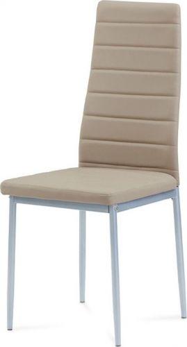 ART Jídelní židle koženka cappuccino / šedý lak DCL-117 CAP Art