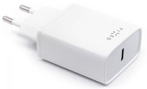 FIXED Síťová nabíječka s USB-C výstupem a podporou PD, 18W FIXC18-C-WH