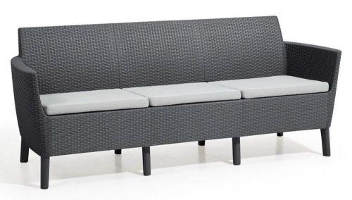 KETER SALEMO 3 seater sofa grafit