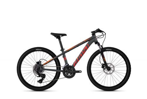 "GHOST Kato 24"" Essential - tmavě stříbrná / červená / oranžová 2021"