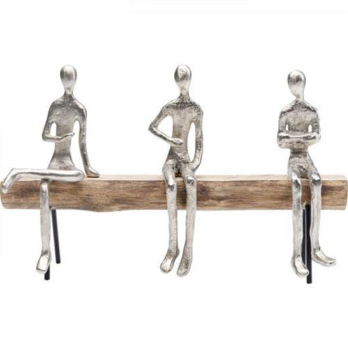 KARE Soška Tři bratři v různých pozicích 38cm