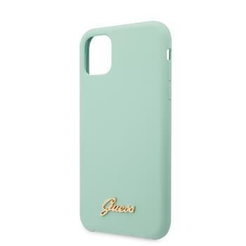 Guess GUHCN58LSLMGGR Guess Silicone Vintage Zadní Kryt pro iPhone 11 Pro Green