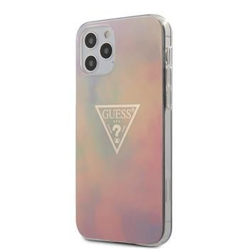 Guess GUHCP12LPCUMCGG01 Guess PC/TPU T&D Gold Triangle 01 Zadní Kryt pro iPhone 12 Pro Max 6.7 Pink