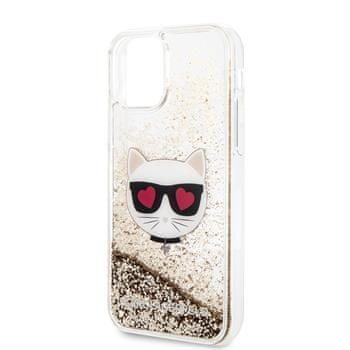 Karl Lagerfeld KLHCN65LCGLGO Karl Lagerfeld Heads Glitter Kryt pro iPhone 11 Pro Max Gold