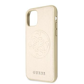 Guess GUHCN65RSSASGO Guess Saffiano Zadní Kryt pro iPhone 11 Pro Max Gold