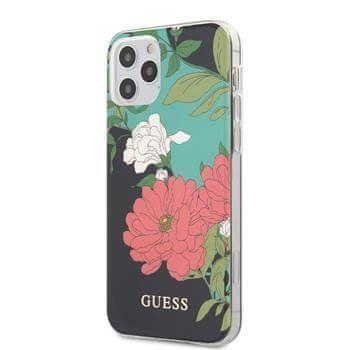 Guess GUHCP12LIMLFL01 Guess PC/TPU Flower N.1 Zadní Kryt pro iPhone 12 Pro Max 6.7 Black